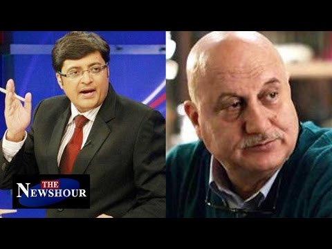 Anupam Kher BAN at NIT Srinagar : The Newshour Debate (11th April 2016)