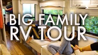 BIG FAMILY RV TOUR : HOW WE LIVE IN OUR RV FULLTIME W/9 KIDS!!!
