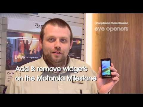 Motorola Milestone:  Add and remove widgets on the homescreen