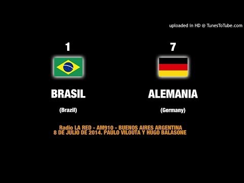 Audio Goles Alemania 7 - Brasil 1 .Radio Argentina / Goals Germany-Brazil in Argentine Radio
