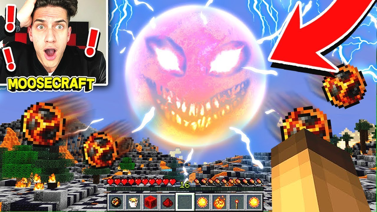 I SUMMONED THE RED SUN IN MINECRAFT! (WITH SHARKBOY)