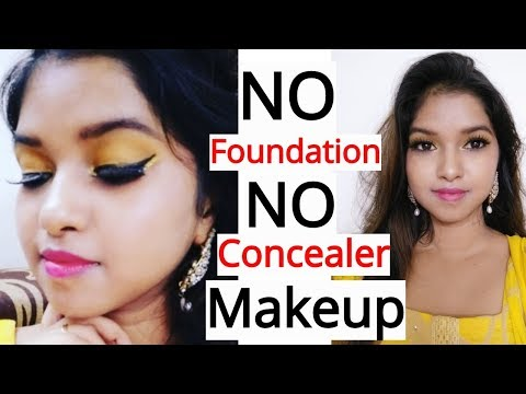 Raksha Bandhan Makeup look 2018 || NO FOUNDATION || NO CONCEALER