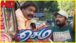 Sema Tamil Movie Scenes   Mansoor Ali Khan comes to Chennai   Kovai Sarala Comedy   GV Prakash