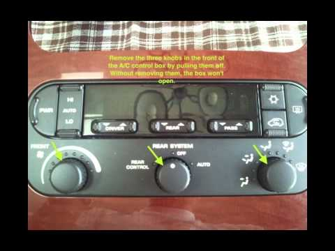 Fix/Replace Chrysler Town & Country A/C control backlight bulbs