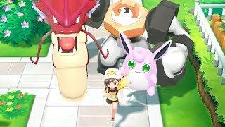 All SHINY Pokemon Walking Animations in Pokémon Let's Go Pikachu & Eevee
