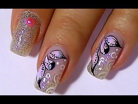 Дизайн ногтей. Рисунки на ногтях: лепестки.