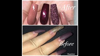 how I transformed 1 month old nails !