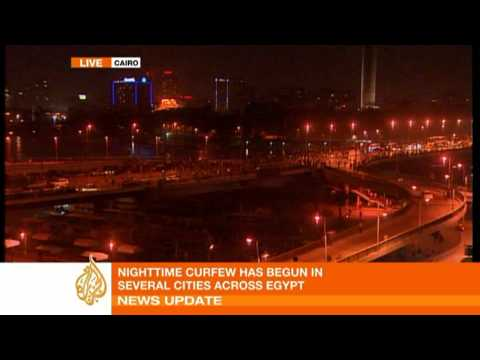 Egyptians renew protests after curfew