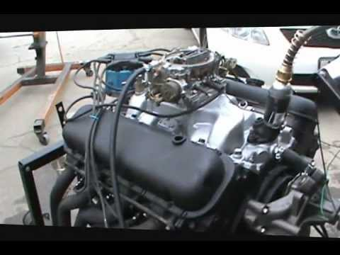 big block 454 chevy 2 bolt test start.wmv