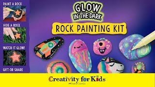 Glow In The Dark Painted Rocks | Rock Painting | Creativity for Kids