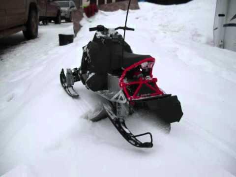 RC Snowmobile (Polaris Rush) - YouTube