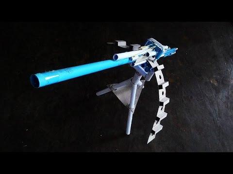 Как сделать стреляющий пулемет из бумаги