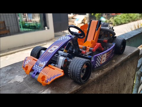 LEGO TECHNIC 42048 UNBOXING AND SPEED-BUILDING (RACE CAR VERSION)