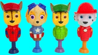 Popping toys with Paw patrol's wrong heads