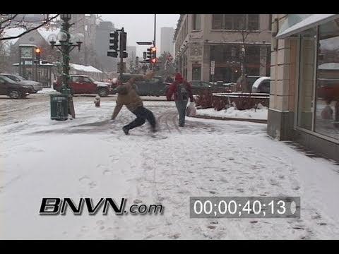 12/4/2007 Slippery Winter Weather Stock Footage
