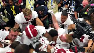 In the dog pile after Alabama national-championship winning play over Georgia