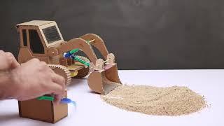 Cách Chế tạo máy xúc mini bằng bơm tiêm và bìa cắt tông(How to build mini excavators with syringes a