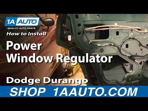 How To Install Replace Broken Power Window Regulator REAR Dodge Durango 98-04 1AAuto.com