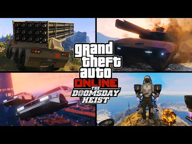 GTA 5 Online - 10 NEW VEHICLES, JET PACK, HEISTS & MORE! (GTA 5 Doomsday Heist Update)