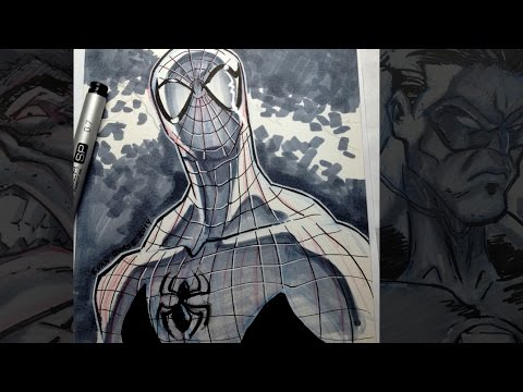 How To Draw Spider-Man (Inks & Copic Marker)