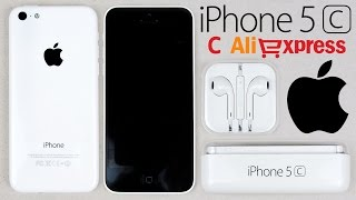 Оригинальный iPhone 5c с Китая (Aliexpress) Распаковка