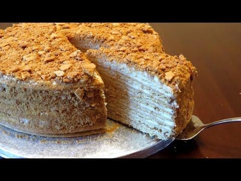 Как приготовить торт Рыжик - видео