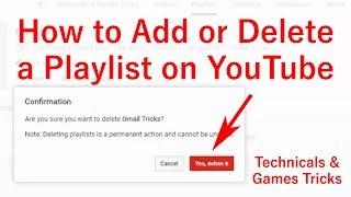 How to Add or Delete a Playlist on YouTube in Hindi || YouTube ki playlist ko kaise delete kre