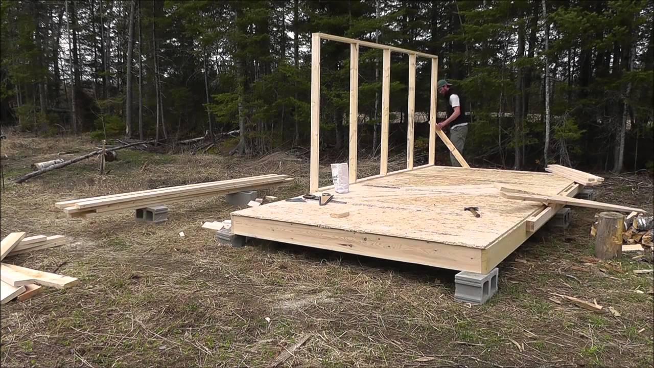 Wall Tent Platform Build Youtube