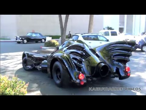 BATMOBILE movie car driving on the street ! ! !