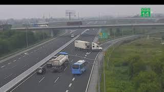 Tài xế quay xe trên cao tốc Hà Nội - Hải Phòng chạy 120km/h | VTC14