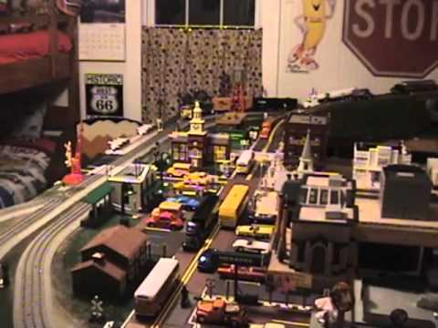 My O Scale Train Layout. April 2012