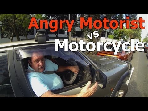 Angry Motorist vs Motorcycle