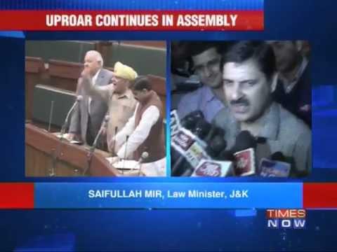 Opposition furor in Jammu & Kashmir Assembly
