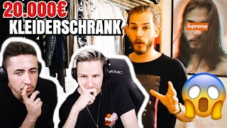 YouTuber zeigt 20.000€ KLEIDERSCHRANK! | Fashion REACTION! 💰😱