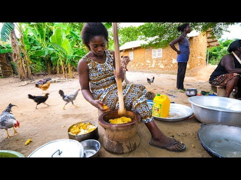 Download Lagu  Village Food in West Africa - BEST FUFU and EXTREME Hospitality in Rural Ghana! Mp3 Free