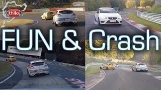 Tricky Lap - wet, slippery, traffic, oil, but FUN..until the crash - Nürburgring Nordschleife BTG