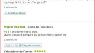 Yahoo! Answer - Salute dell' Uomo -  Domande divertenti ( vid 2/3 )