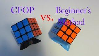 CFOP vs. Beginner's Method!