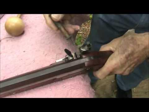 Handmade Flintlock Rifle shooting in Virginia