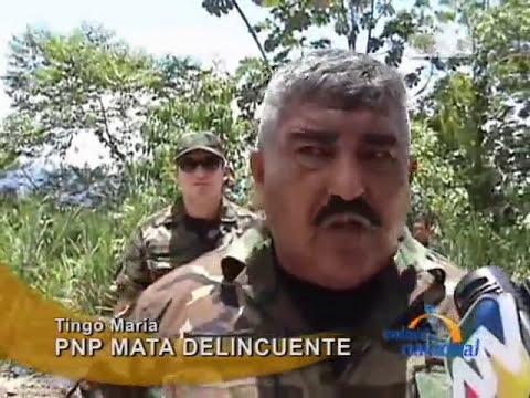 Tingo María: Asaltante muere en enfrentamiento con la policía