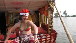 New Year celebration in houseboat, Kerala, South India