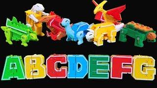 ABCD Alphabet Dino Robot Toys