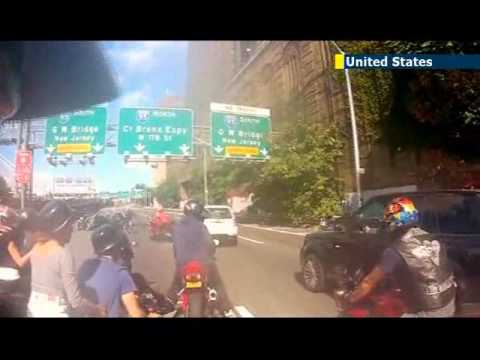 Bikers In Nyc Beat Man NYC Bikers Chase Family Man
