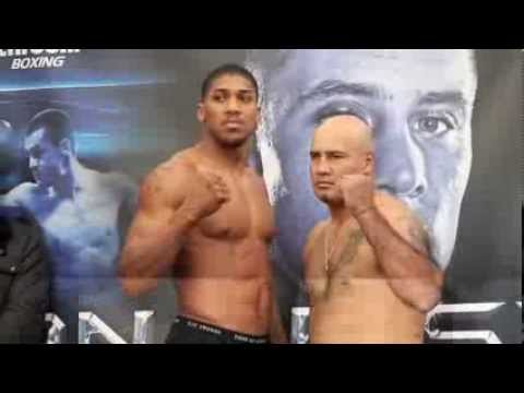 ANTHONY JOSHUA MBE v HECTOR AVILA - OFFICIAL WEIGH IN FROM GLASGOW - MAN OF STEEL