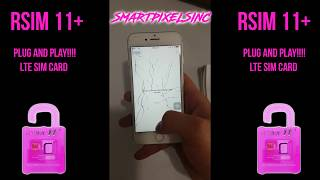 Rsim 11+ Pink Plug and Play LTE Easy Setup!!!! 2017