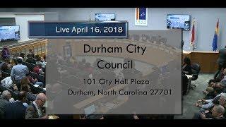 Durham City Council Apr 16, 2018