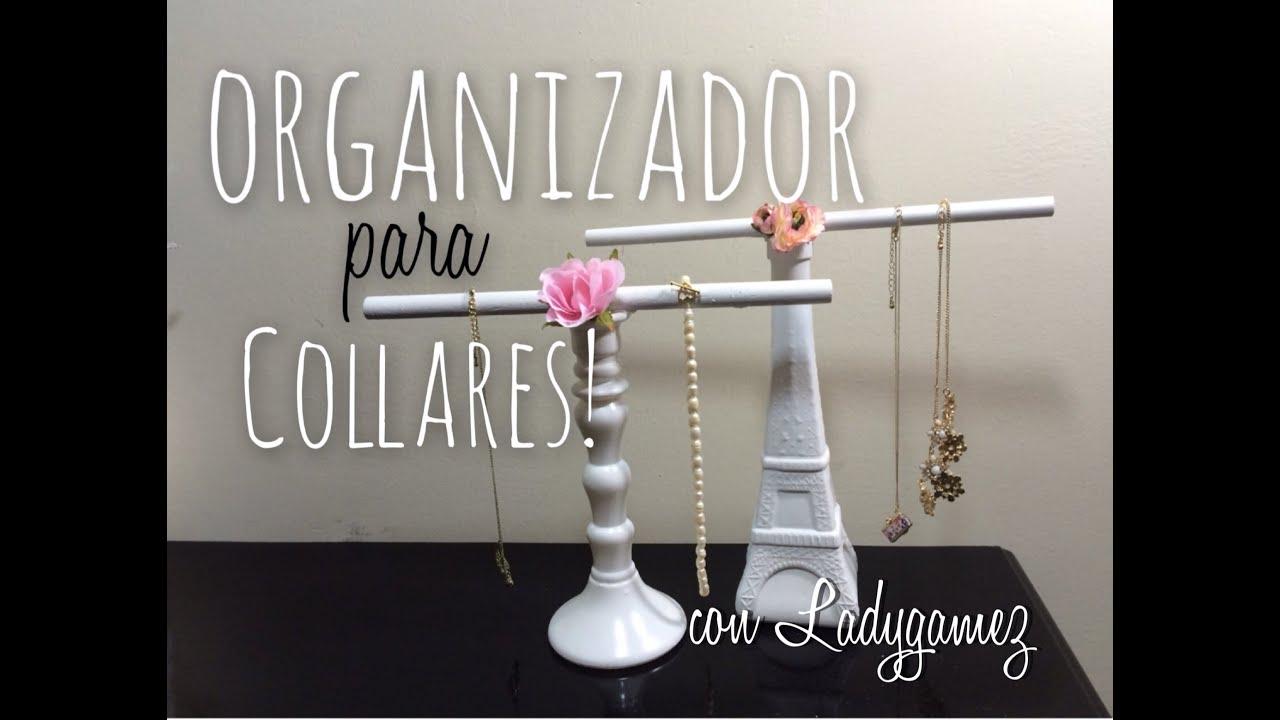 DIY-Organizador de Collares! Necklace Rack! - YouTube