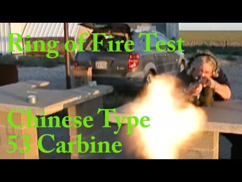 Chinese Type 53 Mosin M44 Clone Ring of Fire Test Nikon V1 Slow Motion 400fps 1200fps