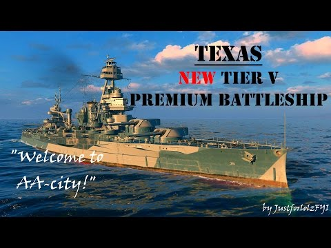 World of Warships - TEXAS Review & Gameplay