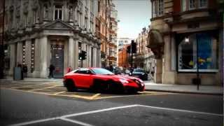ARAB hypercars in London! LOUD Oakley Lamborghini Aventador + Mansory SLR